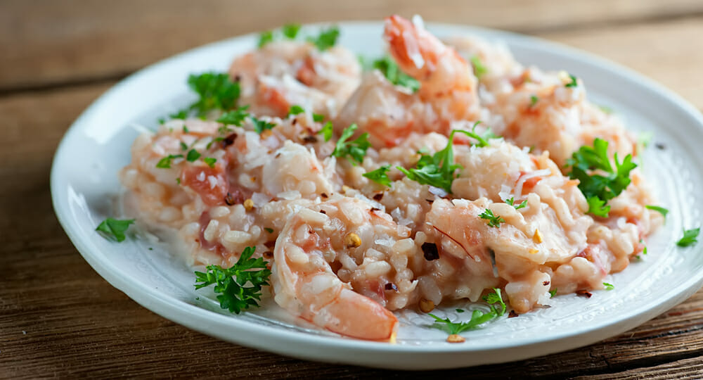 easy coconut shrimp risotto