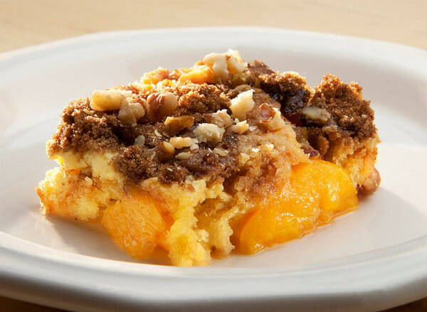 Ridiculously Easy Peach Crumble
