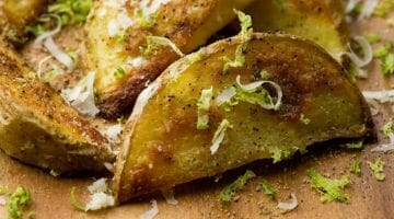 black pepper and lime fries