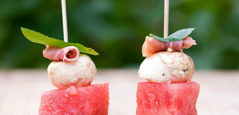 watermelon cheese bites