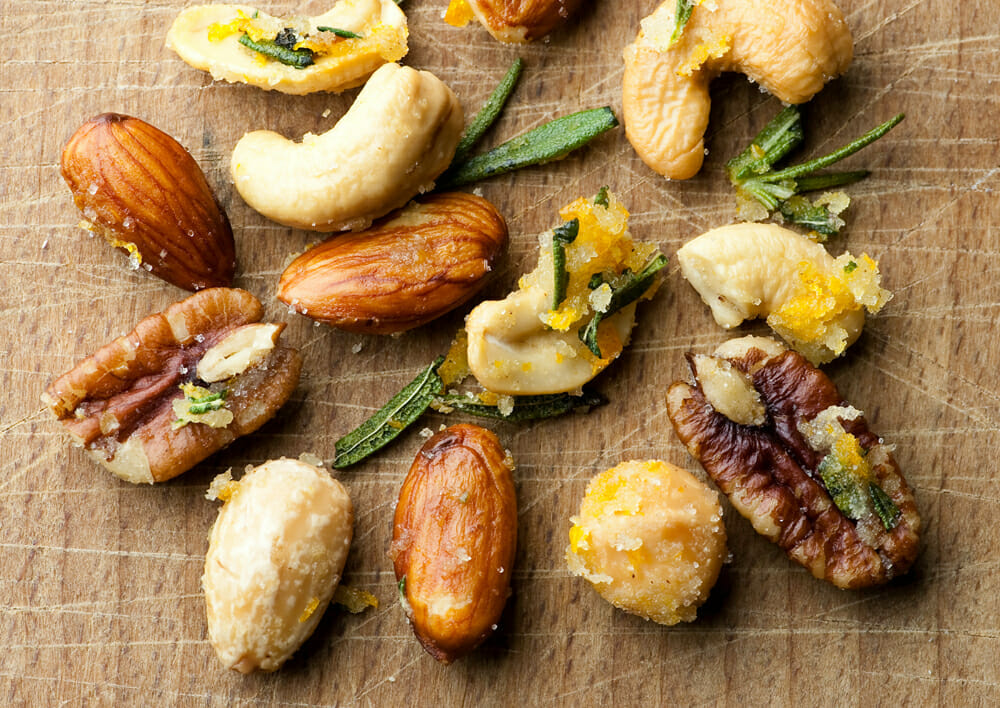 easy butter orange rosemary nuts