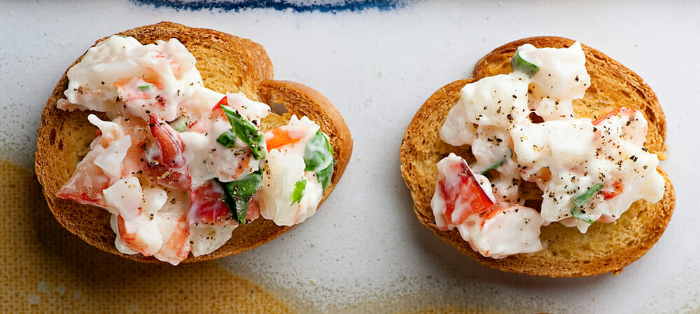 easy shrimp crostini