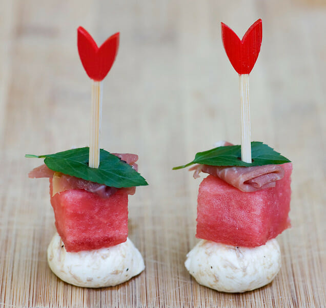 how to make watermelon and cheese bites
