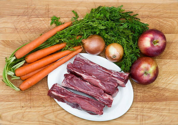 short ribs and vegetables