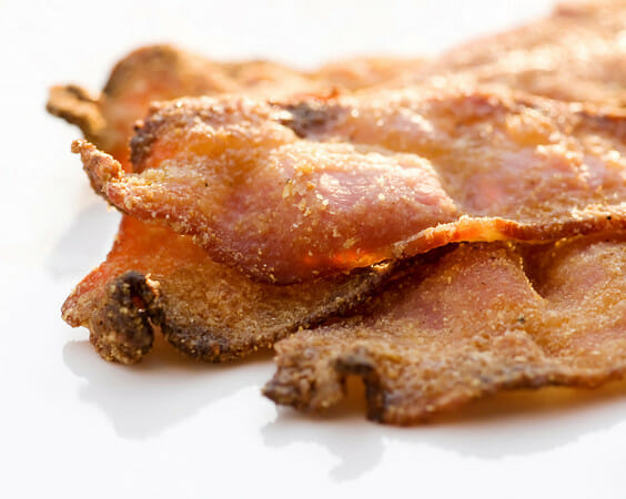 Cornmeal and Brown Sugar Crusted Bacon