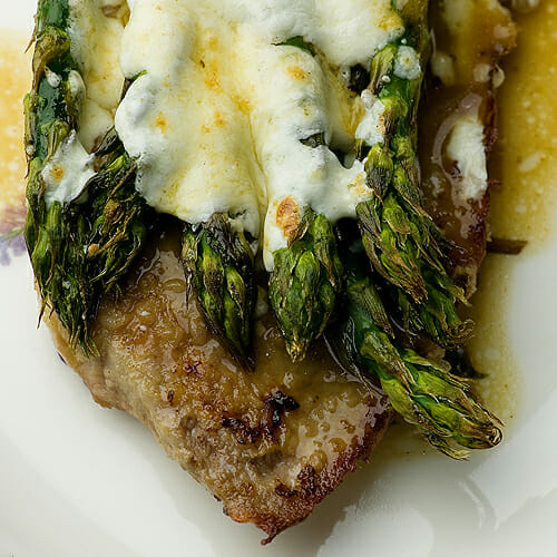 Veal Scallopine with Asparagus