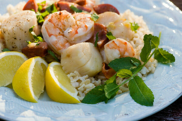 grilled seafood packets