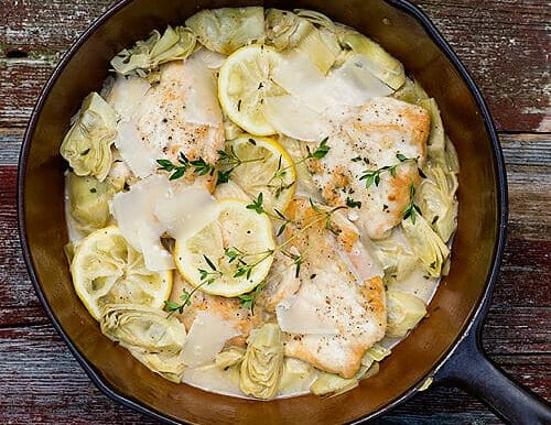 Lemon Chicken with Artichokes