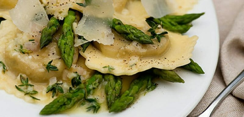 ravioli with white wine butter sauce