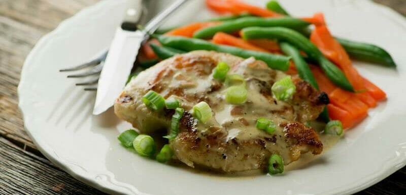 chicken with brandy mustard cream sauce