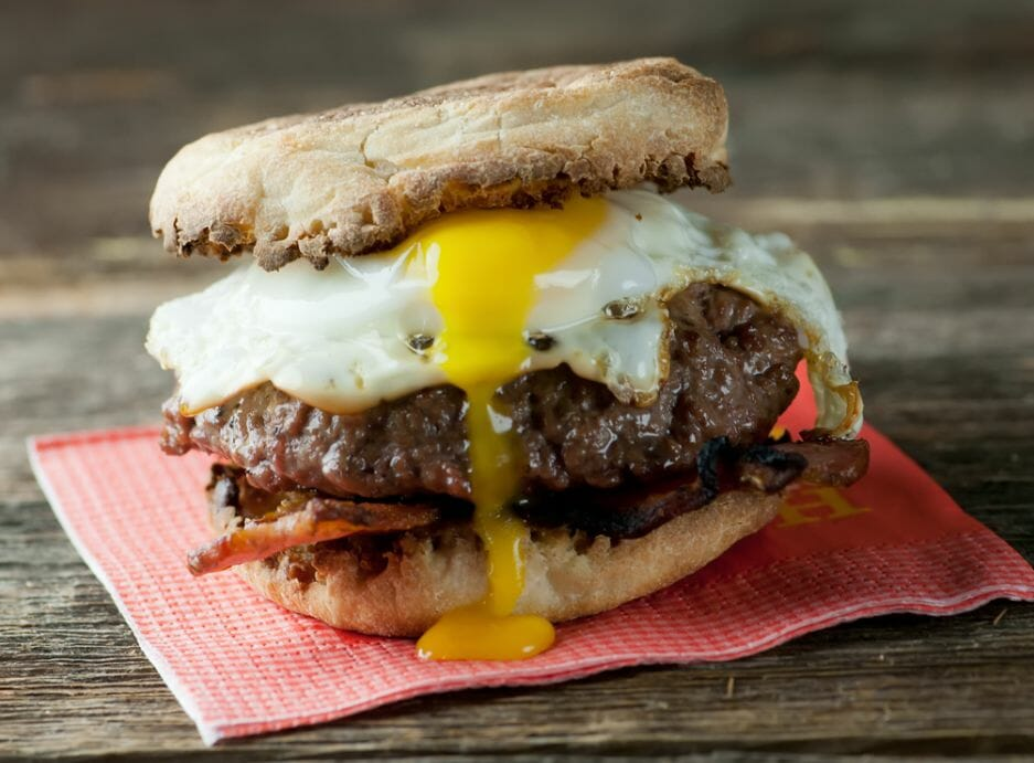 bacon and egg burger