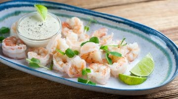 shrimp with lime dipping sauce