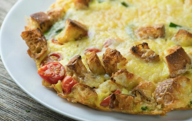 Toasty Cheddar and Vegetable Oven Frittata