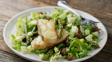 Grilled Cheese Asparagus Salad