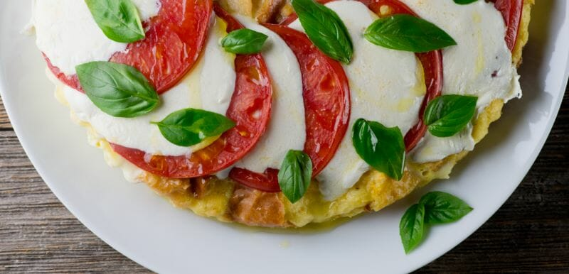 caprese bread pudding recipe