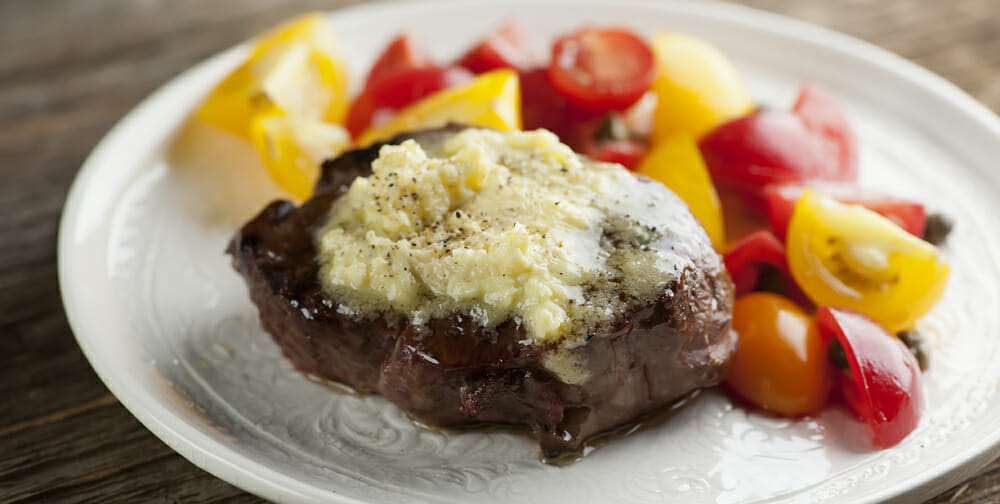 Steak with Parmesan Butter