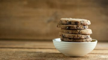 Brown Sugar Chocolate Shortbread Cookies