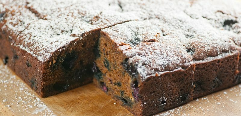blueberry molasses cake