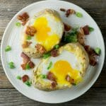 bacon and egg baked potatoes
