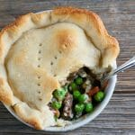beef and blue cheese pot pies