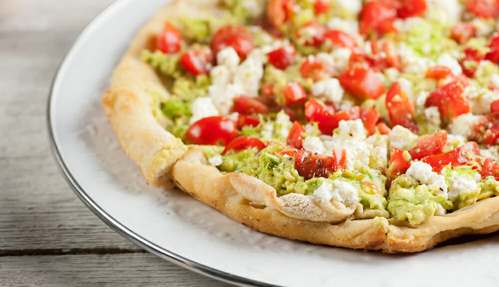 easy avocado toast pizza