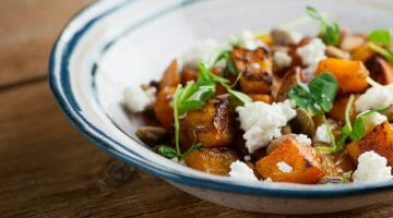 roasted butternut squash with feta