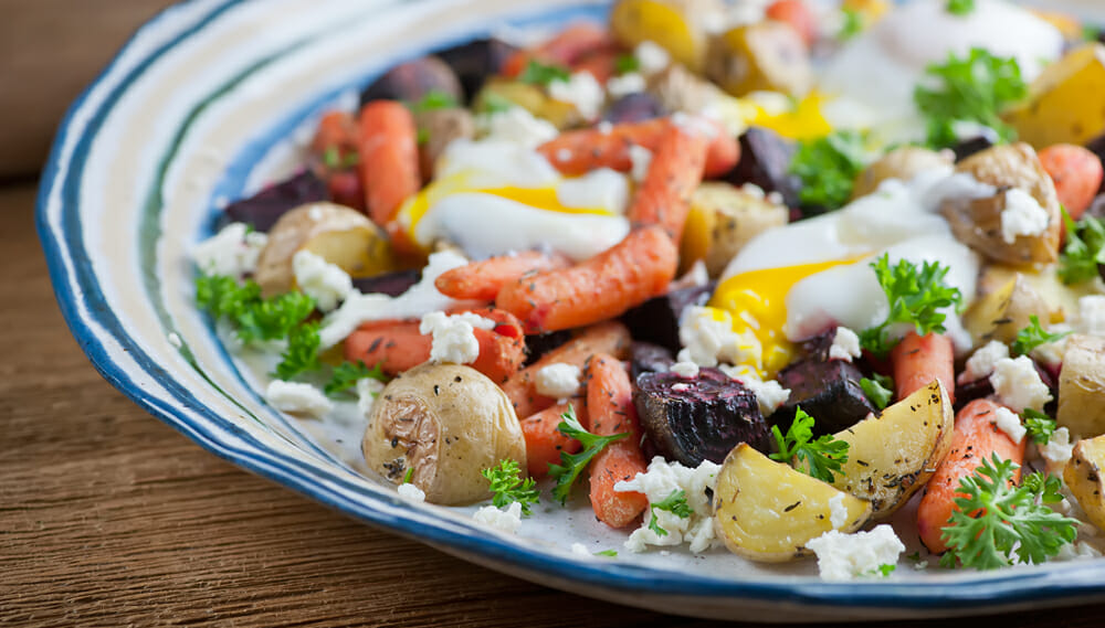 roasted vegetable egg salad