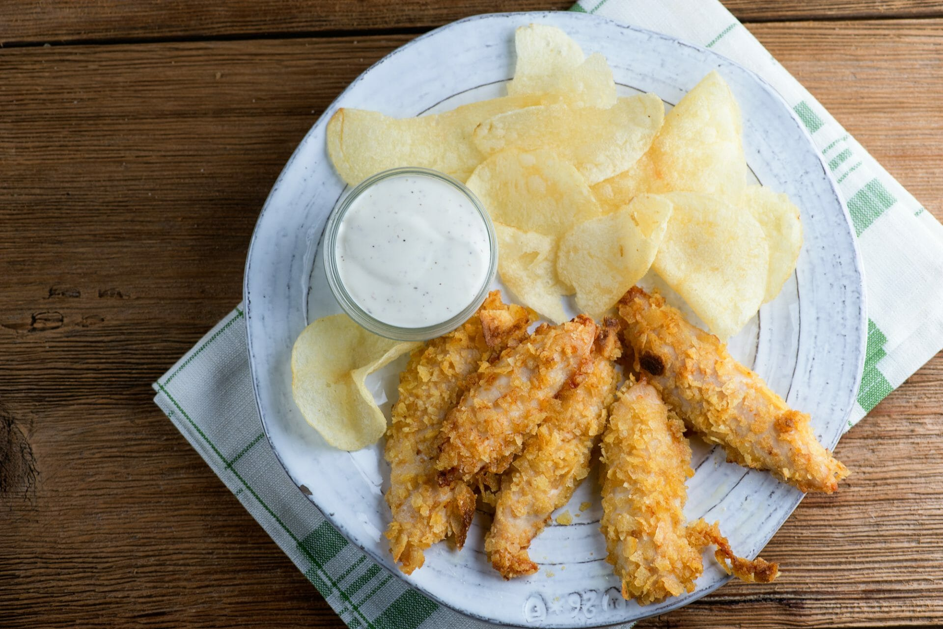 potato chip chicken fingers