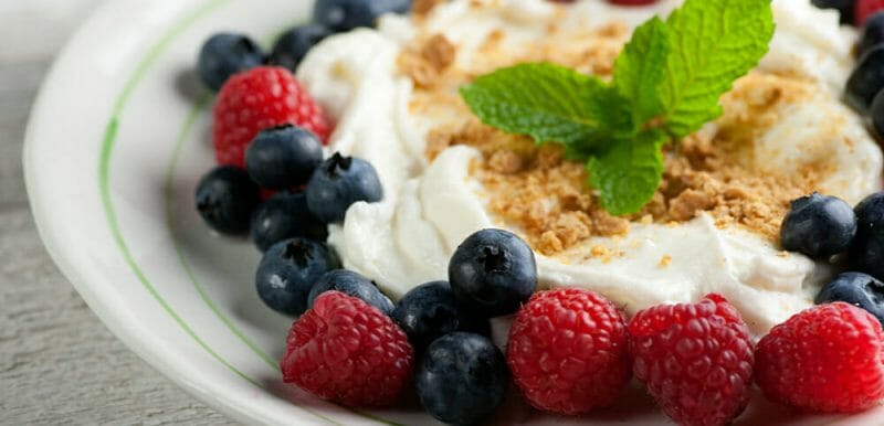 cannoli cream with fresh berries