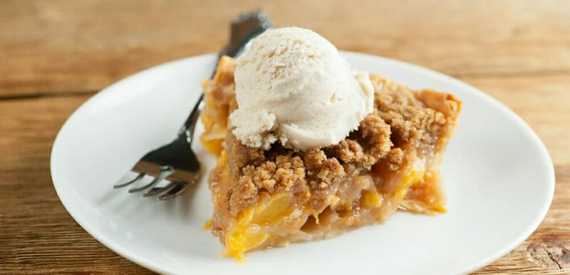 easy butterscotch peach pie