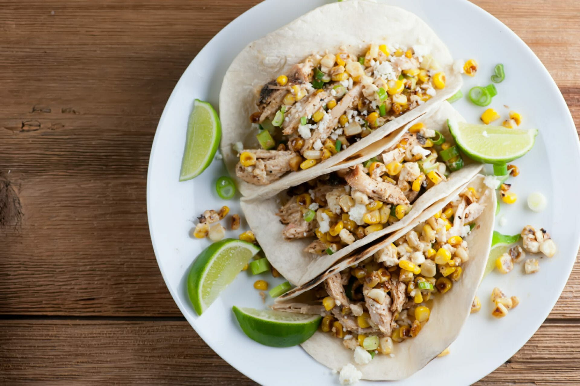 how to make street corn chicken tacos