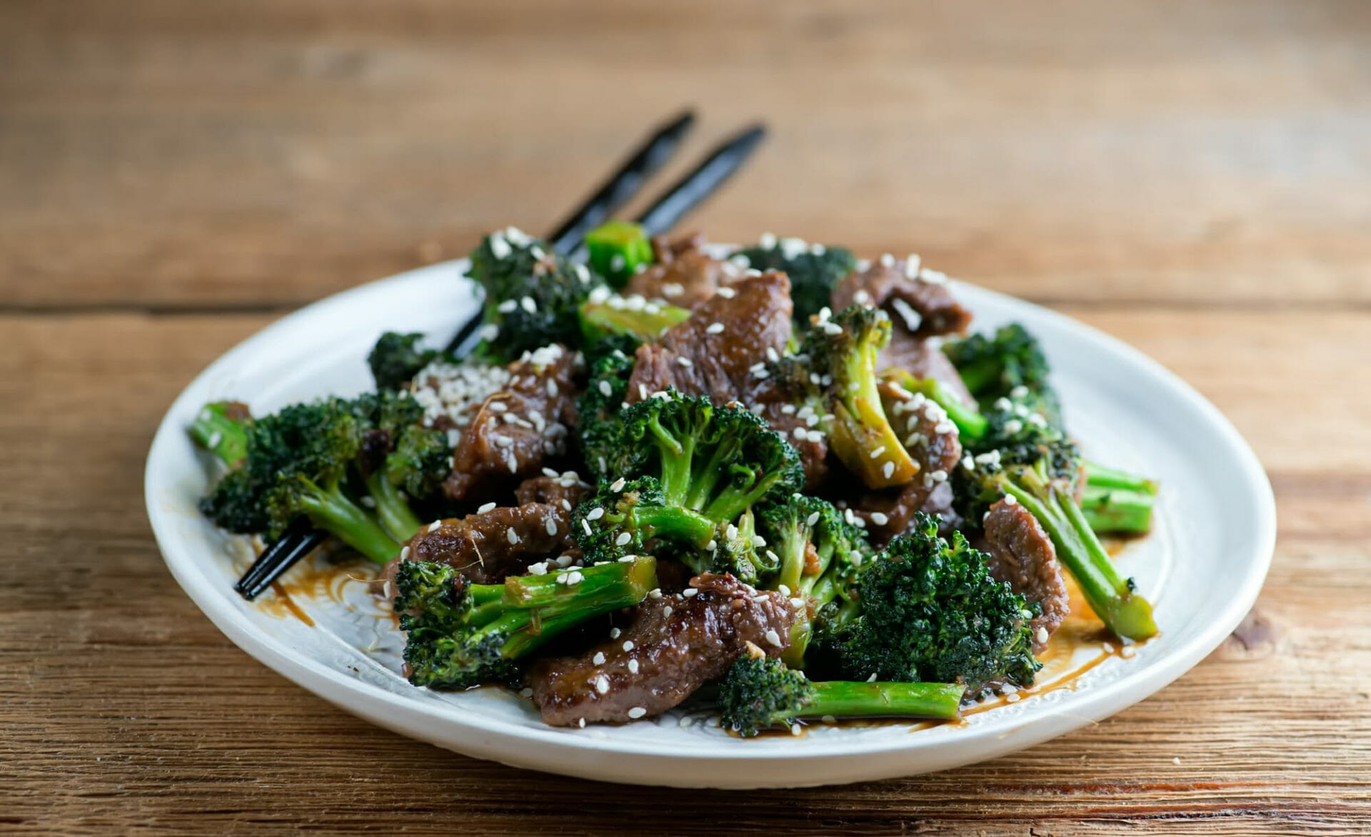 light beef with broccoli