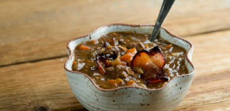 Easy Slow Cooker Beef Bourguignon Soup