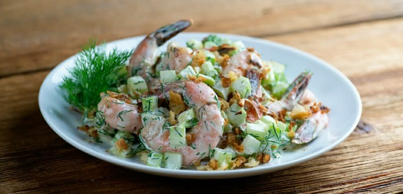 easy roasted shrimp salad recipe