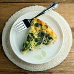Cheesy Chicken Spinach Oven Frittata
