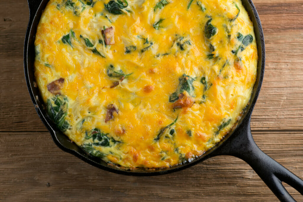 Cheesy Bacon Pasta Frittata