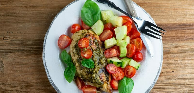 easy stuffed caprese chicken
