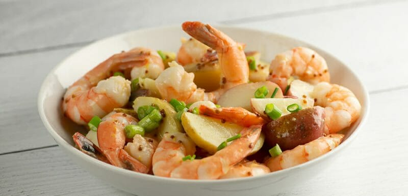 Shrimp Potato Salad with Mustard Dressing