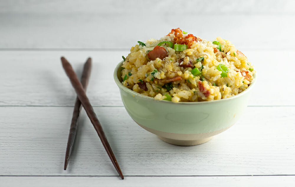 easy fried rice carbonara